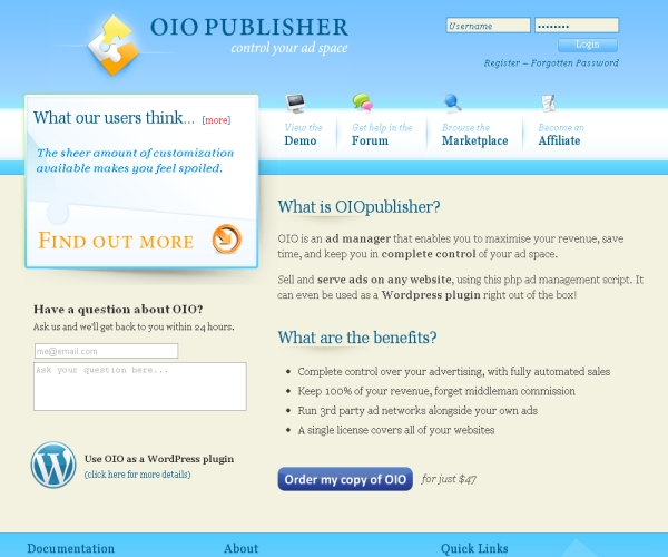OIO Publisher-Premium Ad manager plug-in for WordPress