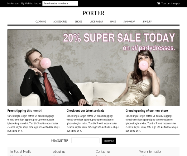 Porter-Premium Magento Theme
