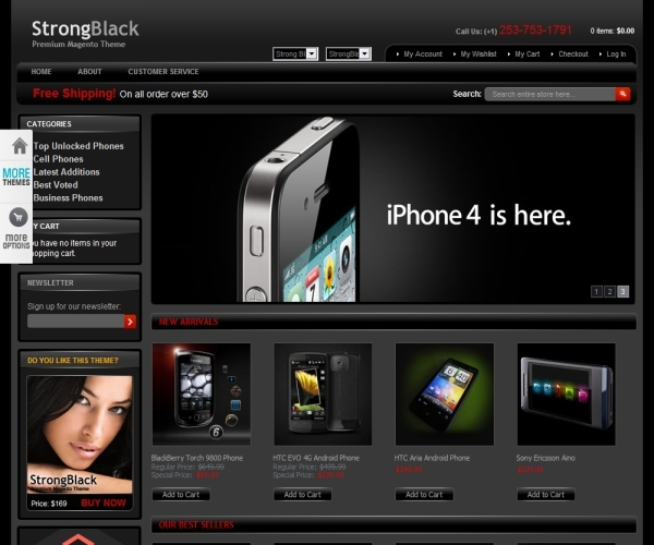 StrongBlack Magento Template