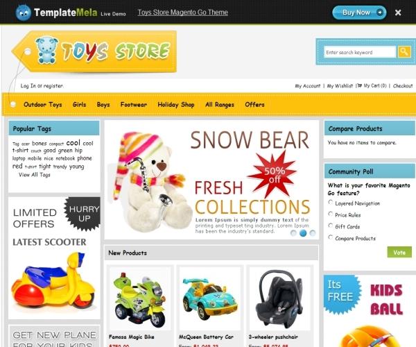 TemplateMela Toys Store Magento Go Theme