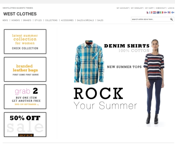 West Clothes Premium Magento Theme