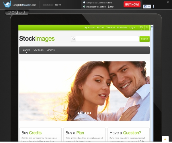 """Review of the """"Stock Images"""" Premium Magento theme for online multimedia stores"""